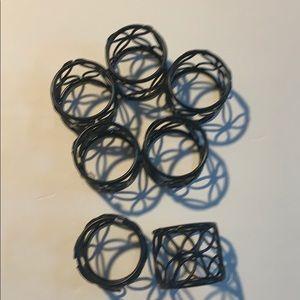 Napkin rings set of 7